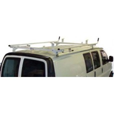 Aluminum Ladder Rack GMC Savana, Chevy Express - Double Lock Down