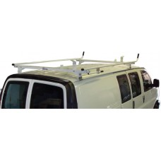 Aluminum Ladder Rack - Full Size Ford Econoline 1994 - 2014 - Single Lock Down