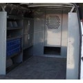 "Ford Transit Full Size Van - Low Roof - Safety Partition, Bulkhead with 10"" opening at floor level"