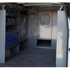 "Chevy Express Full Size Van Safety Partition, Bulkhead with 10"" opening"