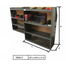 "Steel Shelving Unit 45""Lx44""Hx13""D - Metris"