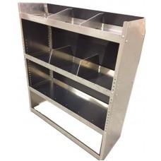 """Aluminum Van Shelving Unit 45""""L x 44""""H x 13""""D"""