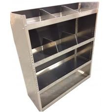 """Aluminum Van Shelving Unit 38""""Lx44""""Hx13""""D"""