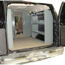 Van Shelving Storage Unit 45L x 44H x 13D - Full Size Van - GMC, Chevy, Ford