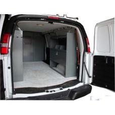 """Van Shelving Storage with Door Kit - 45""""L x 44""""H x 13""""D"""