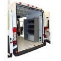 "Set of 2 Nissan NV Cargo Van Shelving Units - High Roof - 59""Hx45""Lx16""D"